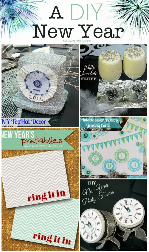 Five crafts to help you ring in the new year. Easy DIY craft tutorial ideas that will get you ready to celebrate and shout Happy New Year!!