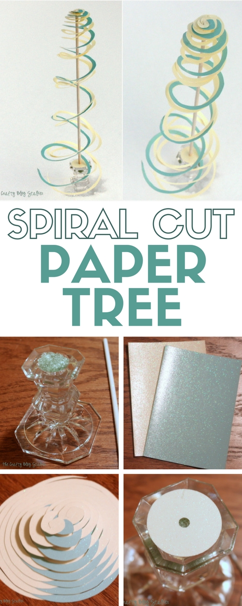 Spiral Cut Paper Tree | Christmas Decor | Paper Crafts | Die Cuts with a View | Winter Crafts | Easy DIY Craft Tutorial Idea