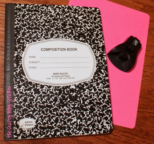 How to Cover a Composition Notebook, a tutorial featured by top US craft blog, The Crafty Blog Stalker.