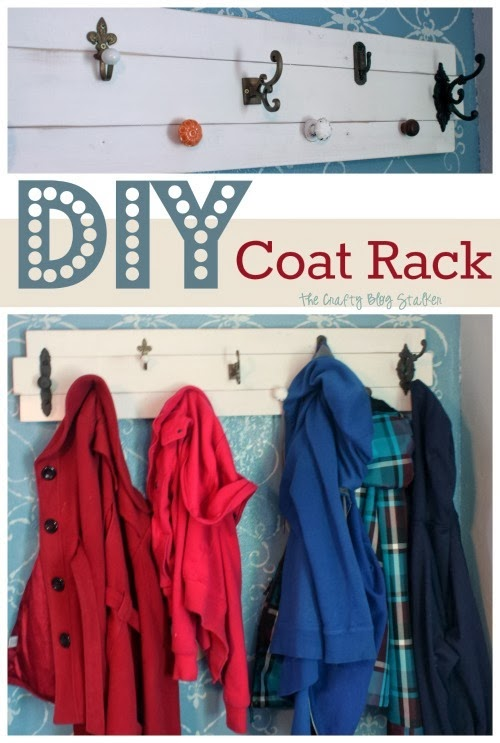 DIY Coat Rack | Knobs | Pallet | Wood Slats | Home Decor | Organization | Easy DIY Craft Tutorial Idea