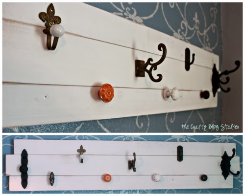 Make this DIY Coat Rack with an assortment of knobs on wood slats. Hang your hats and coats in-style on this easy DIY craft tutorial idea.