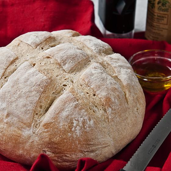 crusty round bread