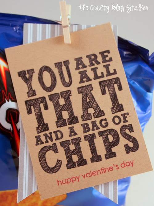 graphic regarding You're All That and a Bag of Chips Printable known as How in direction of Deliver Remaining Instant Valentine Printable The Cunning