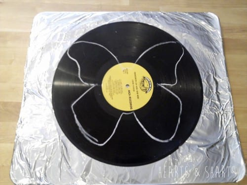 How to Make Vinyl Record Butterflies, a tutorial featured by top US craft blog, The Crafty Blog Stalker.