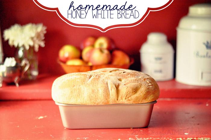 homemade honey white bread