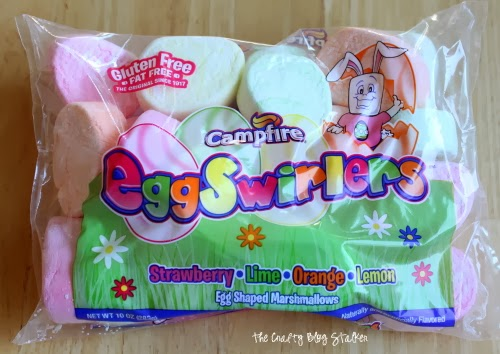 a bag of campfire egg swirlers egg shaped marshmallows