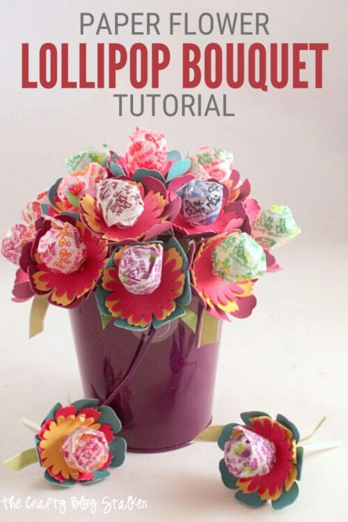 title image for How to Make a Paper Flower Sucker Bouquet