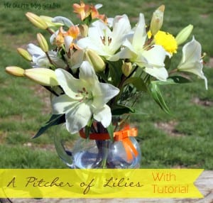 How to Make a Pitcher of Lilies – Lily Bouquet