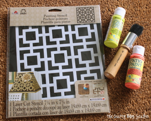 Stenciled Door Mat | Doormat | DIY | Front Door | Outdoor Decor Ideas | Paint