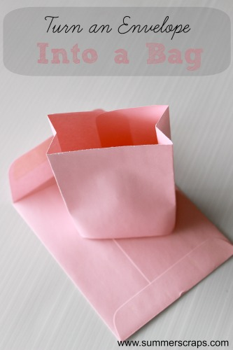 paper crafts, turn an envelope into a bag