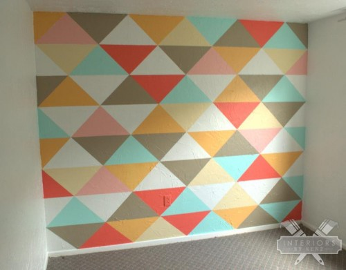 geometric wall that was the inspiration for this project