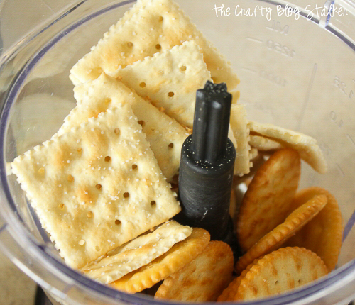 saltine crackers and rits crackers in a Ninja
