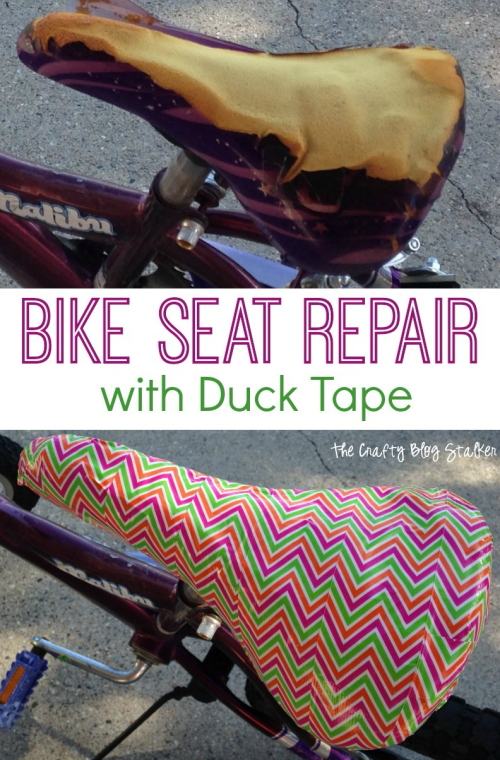Bike Seat Repair | Duck Tape | How To Tutorial | Bicycle Repair | DIY