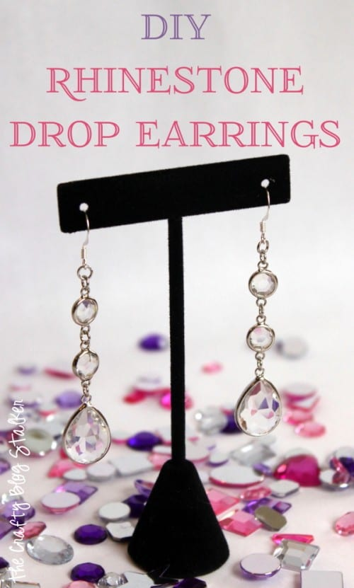 DIY Rhinestone Drop Earrings