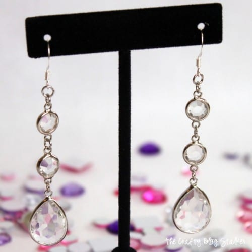 Rhinestone Drop Earrings 11