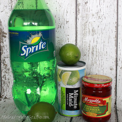 ingredients used to make cherry limeade