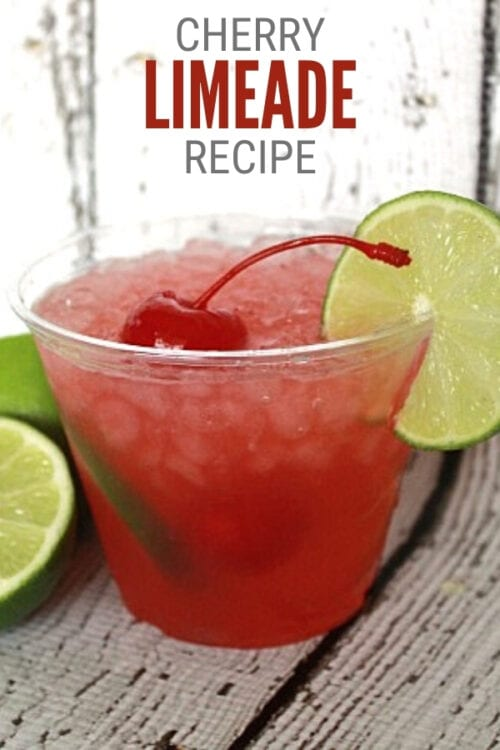 title image for a Recipe for Cherry Limeade