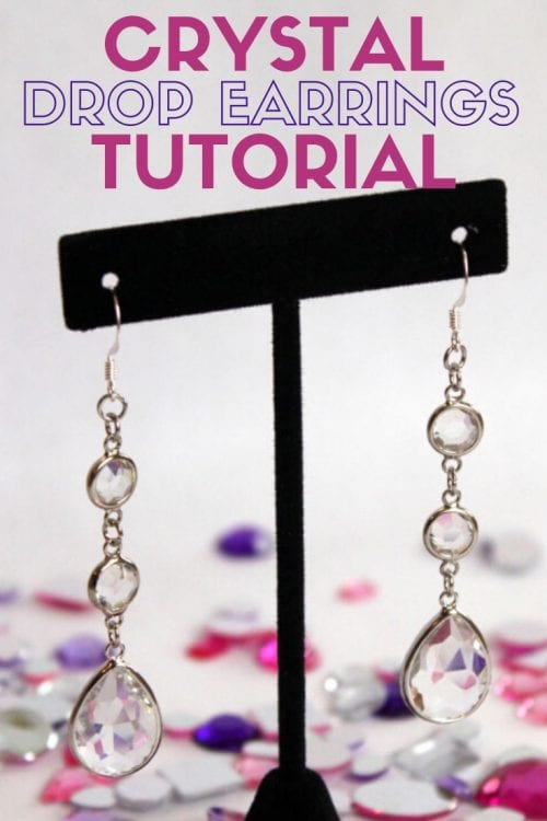 title image for How to Make Crystal Drop Earrings for Cheap