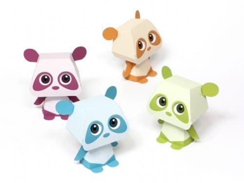 image of 4 Panda Paper Toys