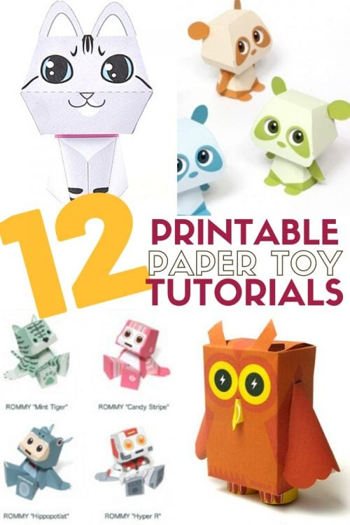title image for 12 Easy Paper Toys to Print, Cut, and Assemble