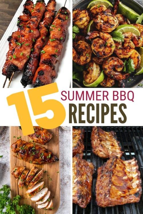 title image for 15 Summer BBQ Favorites