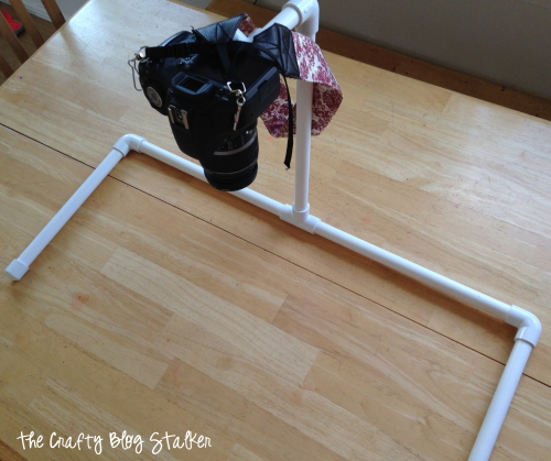 Make an overhead camera mount with PVC pipe. This is an inexpensive DIY camera hack that you won't know how you lived without. Set up your video studio!