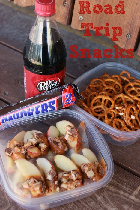 Road Trip Fuel: SNICKERS Caramel Apple Slices with a refreshing Dr Pepper