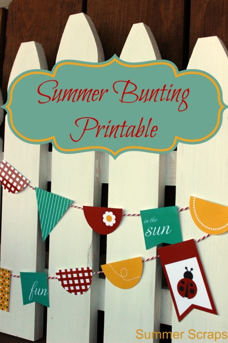 Summer Bunting Printable