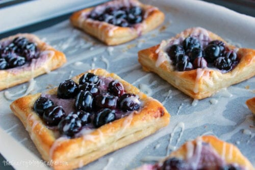 backed blueberry and cream cheese pastries