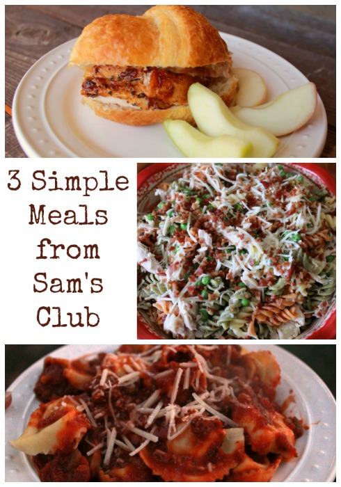 3 simple Meals from Sam's Club