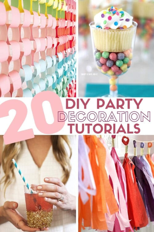 title image for 20 DIY Party Decorations for any Celebration