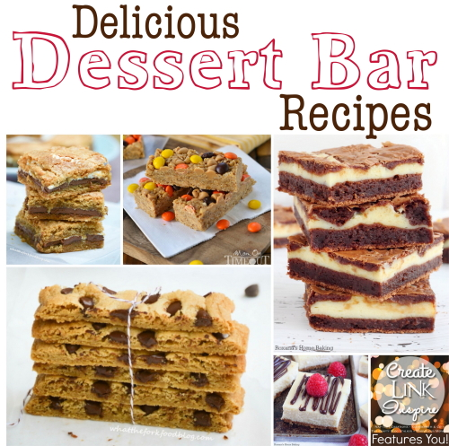 A roundup up Delicious Dessert Bar Recipes. In this post, you are sure to find a dessert recipe that you will love!