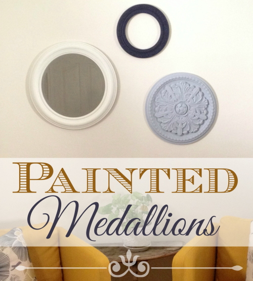 how to make painted medallions wall decor   the crafty