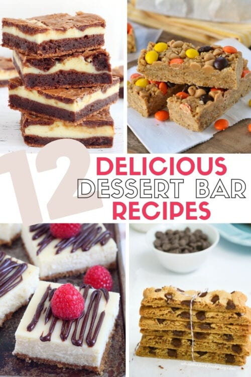 title image for 12 delicious and easy dessert bar recipes