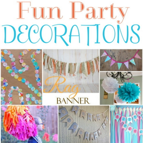 7 simple DIY craft tutorial ideas to get you started on creating your own Fun Party Decorations. Make the event memorable, and it all starts with the decor.