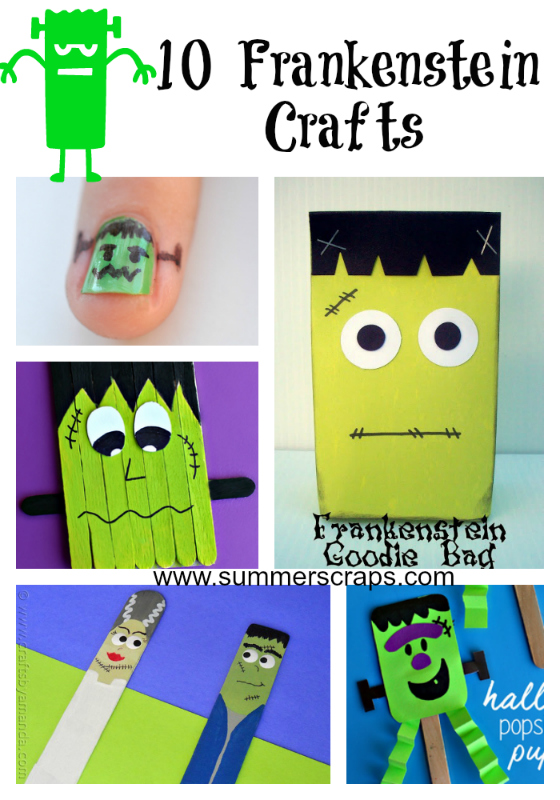 10 Frankenstein Crafts Roundup | Summer Scraps
