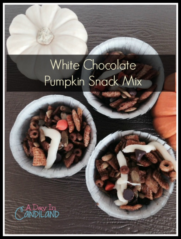 White Chocolate Pumpkin Snacks in Black Cups