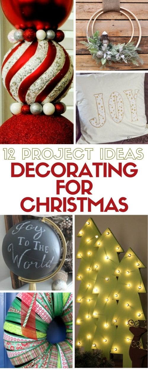 Are you decorating for Christmas? Here are Christmas decorating ideas for holiday home decor. All are easy DIY craft tutorial ideas that you can do!