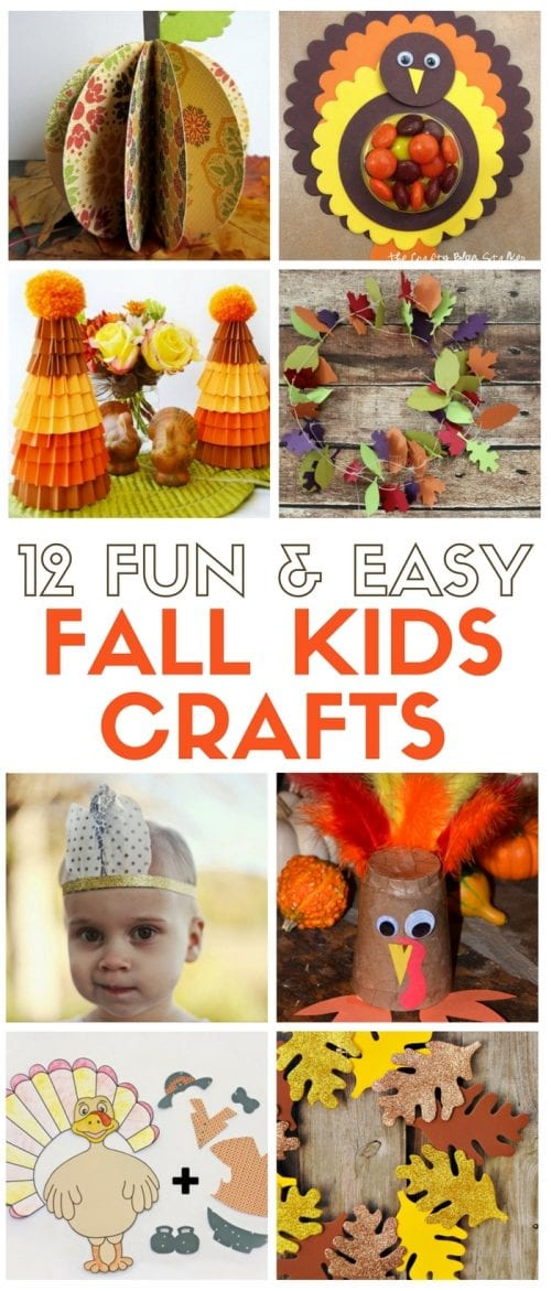 12 Fun and Easy Fall Kid's Crafts | Easy DIY Craft Tutorial Idea | keep kids busy | Thanksgiving | Autumn | Paper Crafts | Activities | Handmade