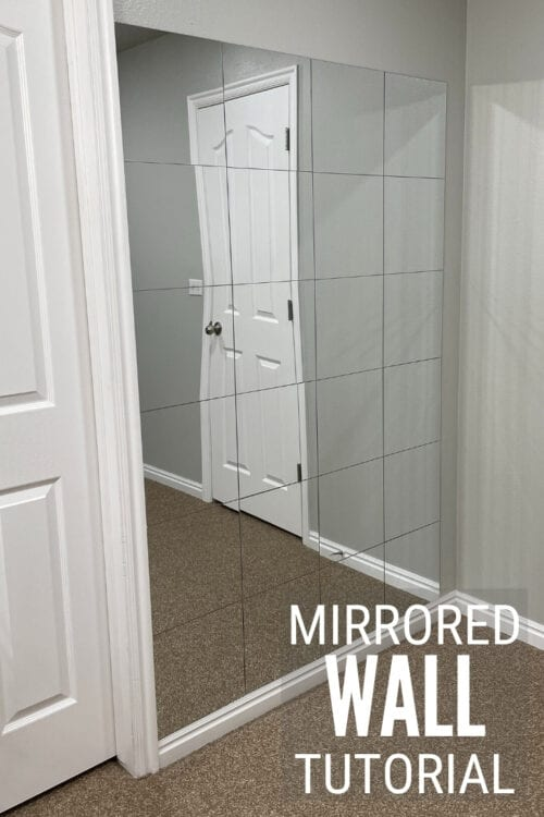 how to make a mirror wall
