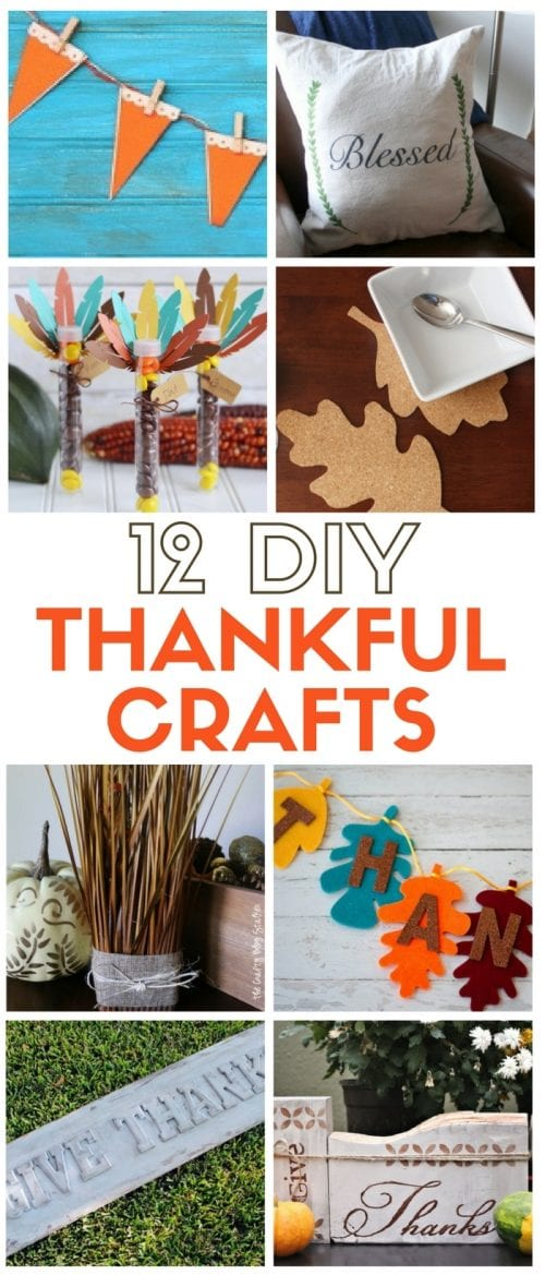 Thankful Crafts | Thanksgiving Decor | Fall | Autumn | Home Decor | Easy DIY Craft Tutorial Ideas