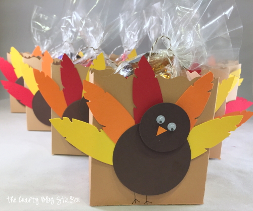 Decorate your place settings with cute Turkey Treat Bags. Simple to make and fun to give. Share a little Thanksgiving treat with friends and neighbors.