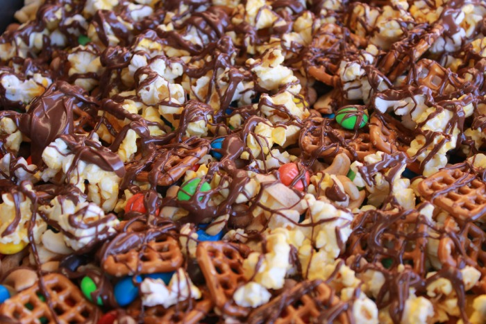double chocolate sweet and salty party mix