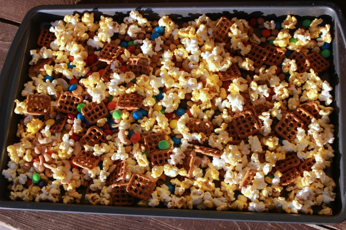 mix on cookie sheet