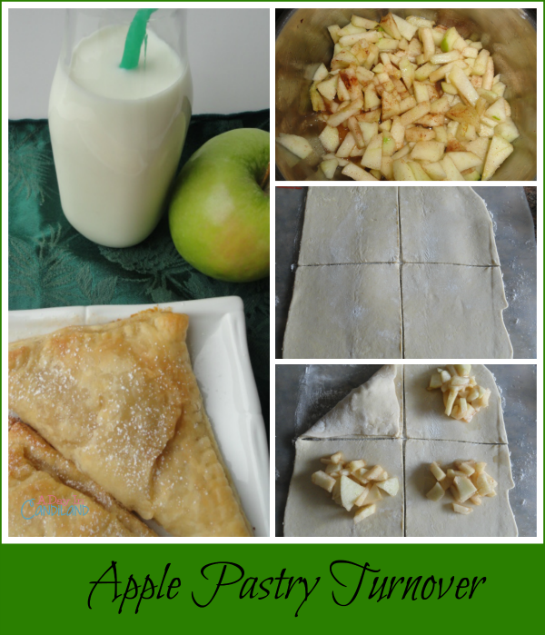 Apple Pastry Turnover with Puff Pastry