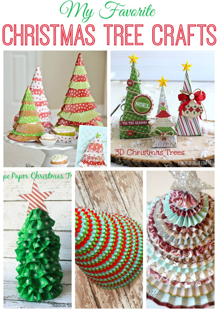 Christmas Tree Crafts Roundup