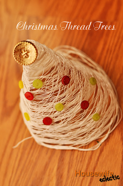 How to Make Christmas Thread Trees (1)