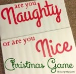 Naughty or Nice Christmas Game featured by top US lifestyle blog, The Crafty Blog Stalker.