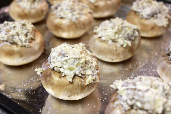 uncooked Stuffed Mushrooms