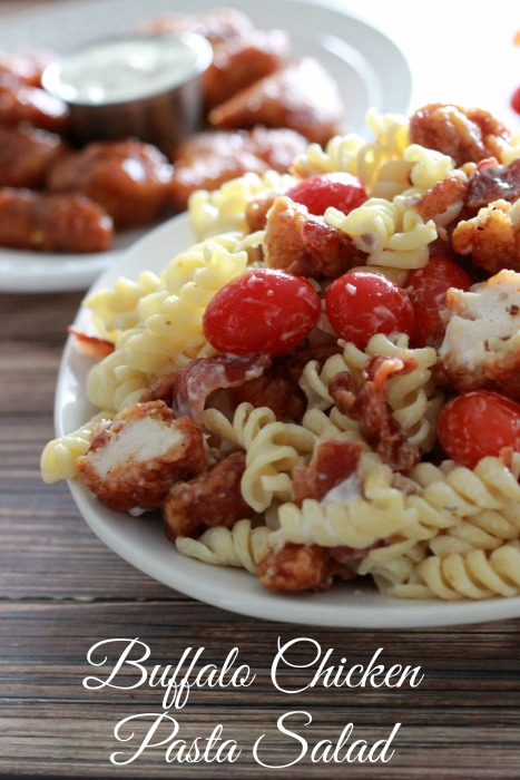#AD Buffalo Chicken Pasta Salad